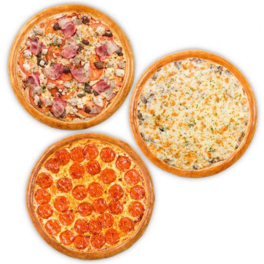 3 пиццы