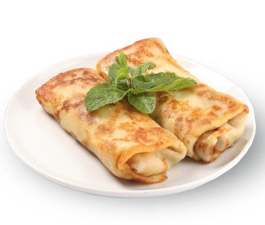 Блинчики с беконом и сыром