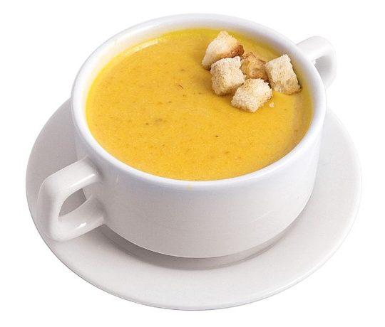 Суп пюре сырный с гренками